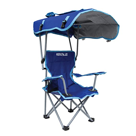 Amazon.com : Kelsyus Kids Canopy Chair - Blue : Camping Chairs : Sports & Outdoors