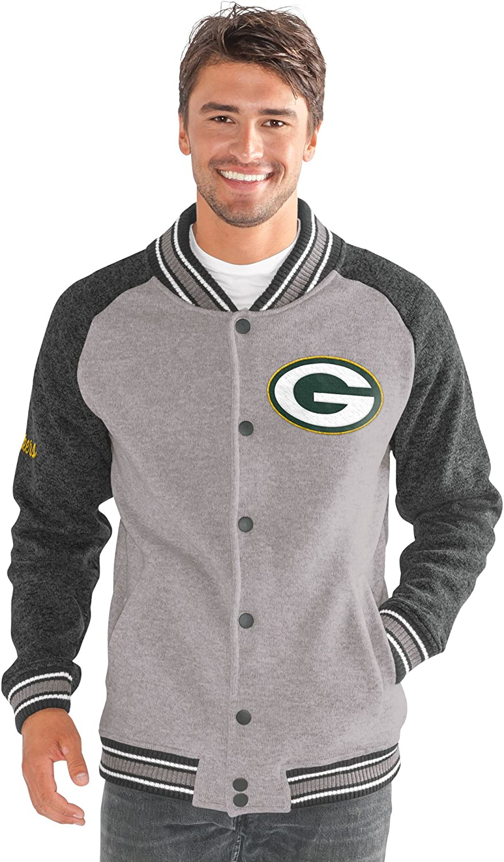Gray G-III Mens The Ace Sweater Varsity Jacket X-Large