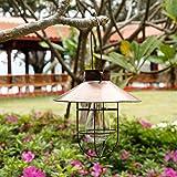 ソーラーランタン ガーデンライト 庭園灯 LED 電球型 アンティーク調 防水 自動点滅 飾り用 ペンダントライトおしゃれ 玄関先 歩道 庭 ガーデン ベランダ 屋外 (ブロンズ)