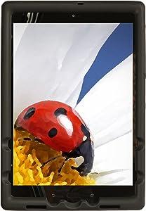 Bobj Rugged Cover for ASUS ZenPad Z10 (ZT500KL, P00I) and ZenPad 3S-10 (Z500M, P027) - BobjGear Custom Fit - Patented Venting - Sound Amplification - BobjBounces Kid Friendly (Bold Black)