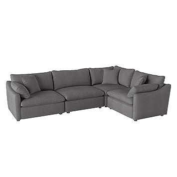 Incredible Amazon Com Lexicon Eli 118 X 80 Fabric Modular Sectional Pdpeps Interior Chair Design Pdpepsorg