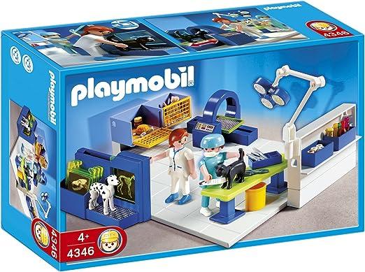 PLAYMOBIL - Quirófano de Animales, Set de Juego (4346): Amazon.es: Juguetes y juegos