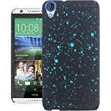 Heartly Night Sky Glitter Star 3D Printed Design Retro Color Armor Hard Bumper Back Case Cover For HTC Desire 820 820Q Dual Sim - Light Blue