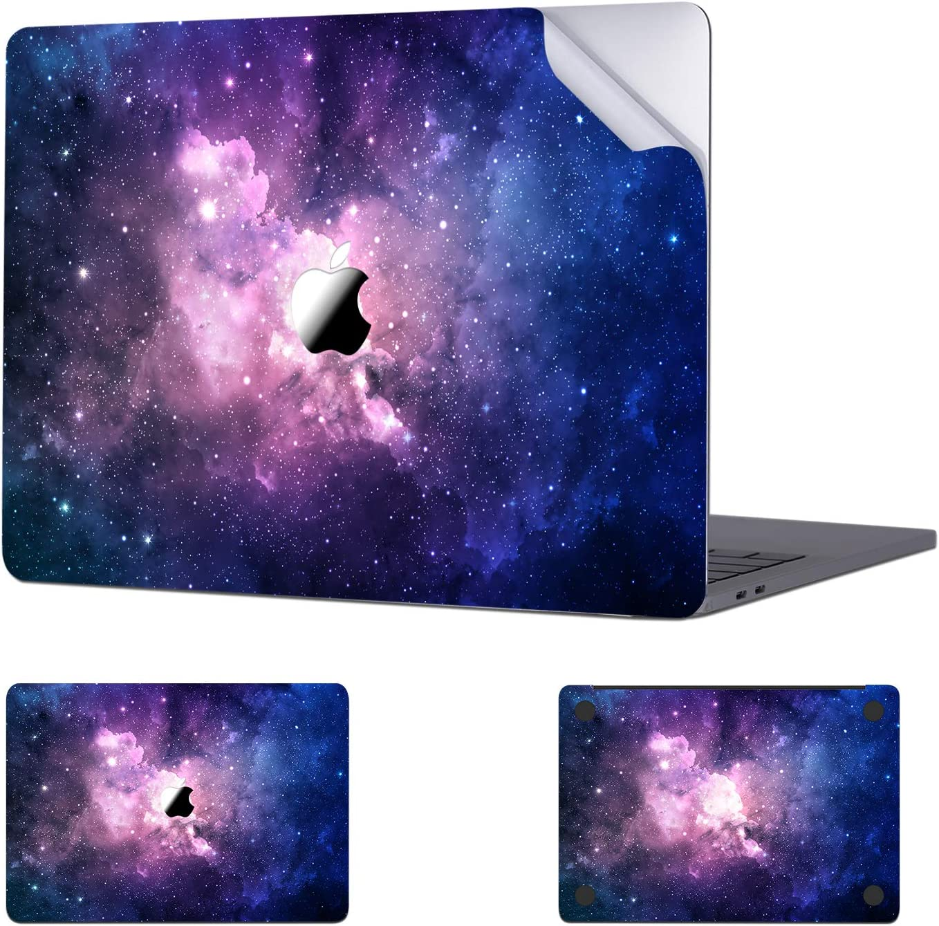 Digi-Tatoo MacBook Skin Decal Sticker Compatible with MacBook Air 13 inch 2020/2018 Release (Model A2337/A2179/A1932), Easy Apply Full Body Protective Vinyl Skin [Nebula]