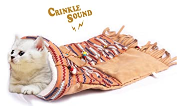 40208cb8ca3 Amazon.com : ALL FOR PAWS AFP Cat Ped Bed, Altany Cat Sack-Beige ...