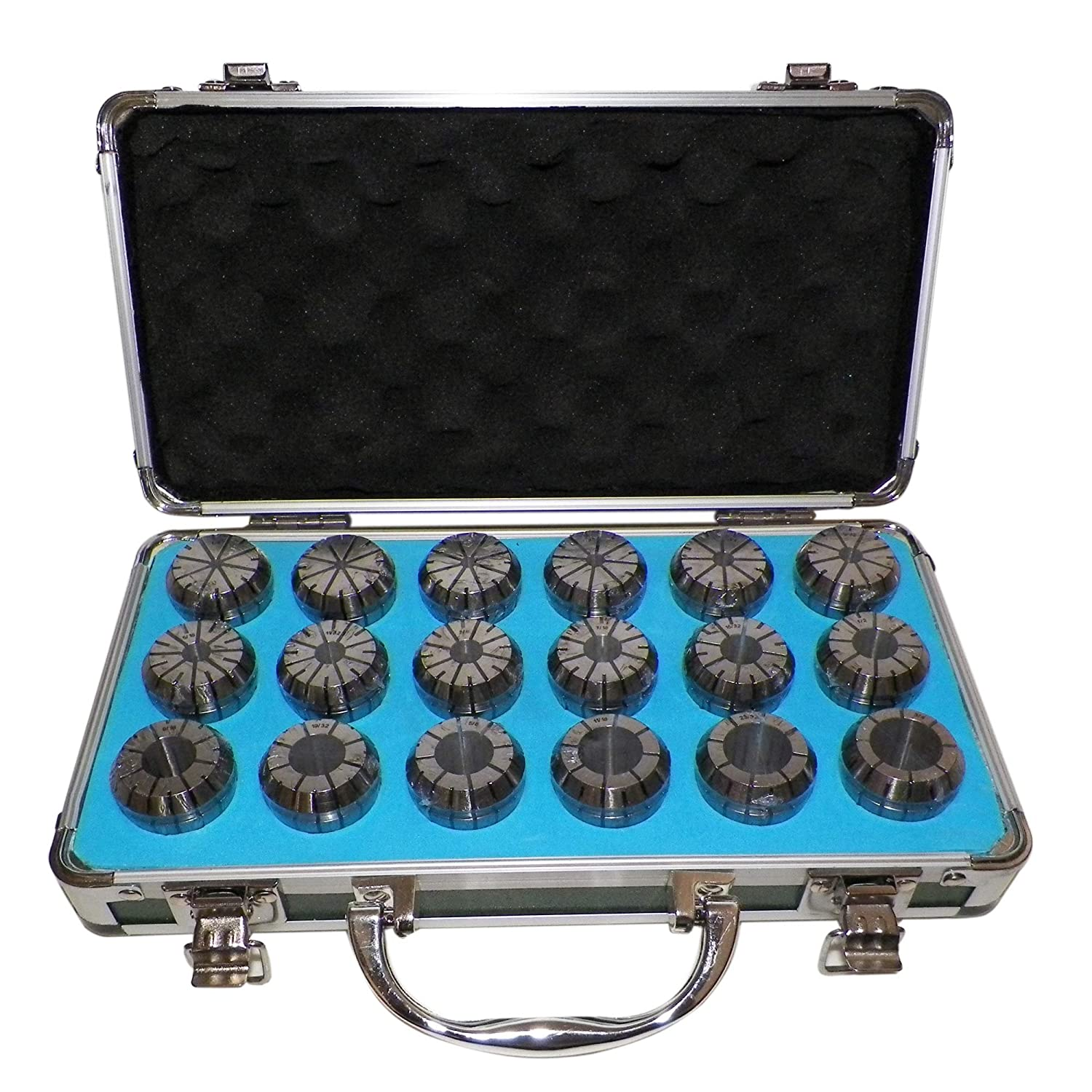 """ER32 COLLETS SET 1//8/"""" to 3//4/"""" 18 PCs PRIME QUALITY TESTED RUN OUT 0.0003/"""""""