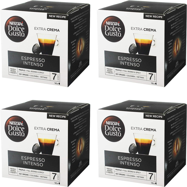 Nescafé Dolce Gusto Espresso Intenso, Paquete de 4, 4 x 16 ...
