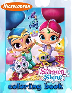 Shimmer And Shine Coloring Book For Kids Toddlers 25 Illustrations