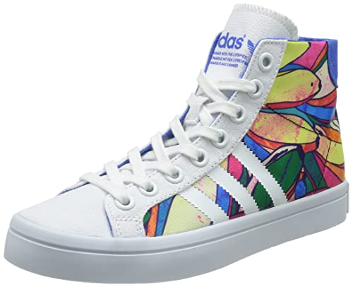 separation shoes d82ec e5921 adidas Originals Womens Courtvantage Mid W Blue and White Sneakers - 5 UK  Buy Online at Low Prices in India - Amazon.in
