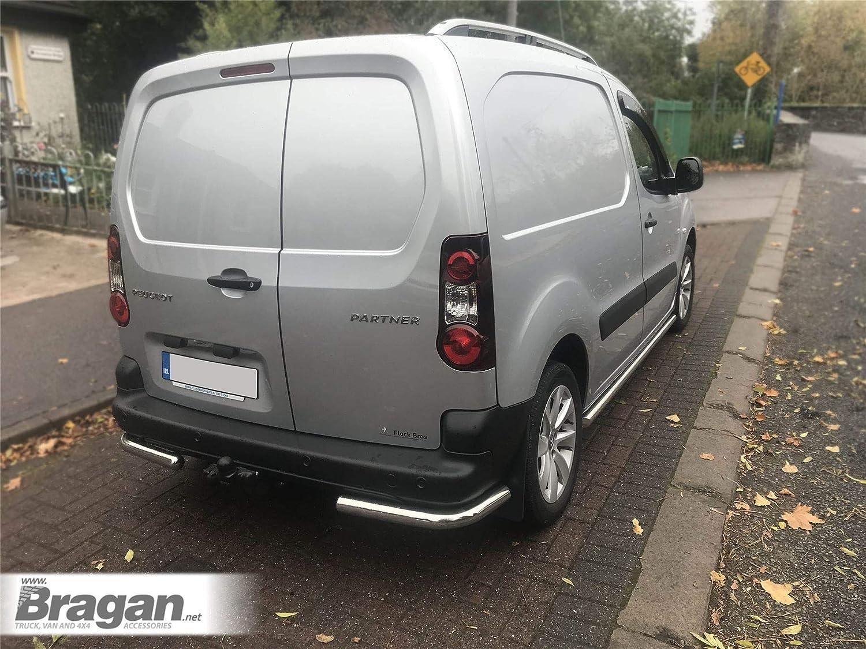 2008 + Peugeot Partner/Citroen Berlingo Barras laterales Pasos Tubos para Tunning S/S: Amazon.es: Coche y moto