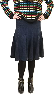 product image for Hard Tail Forever Fit-N-Flare Ribbed Pull On Knee Length Skirt Style CS-105