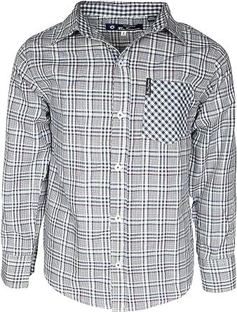 Ben Sherman Boy\s Long Sleeve Button Down Shirt, Blue Plaid, Medium / 10-12: Amazon.es: Ropa y accesorios