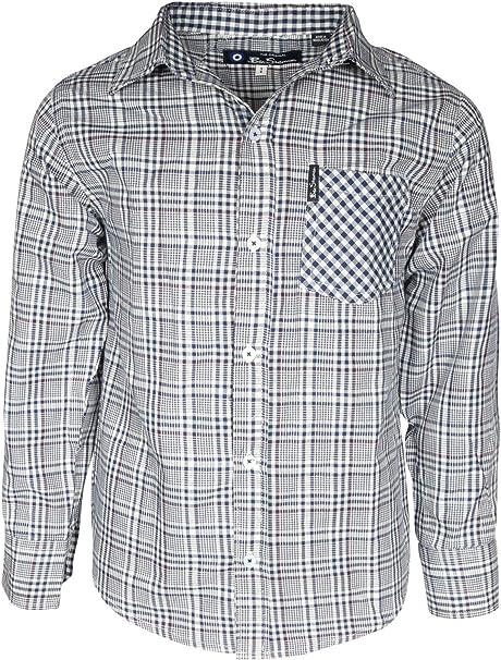 USED Men/'s Ben Sherman Long Sleeve Button Down Dress Shirt-Medium Large