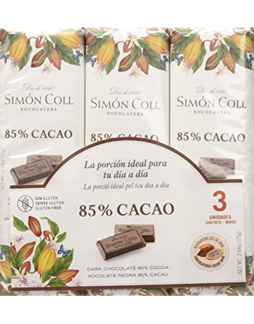 Chocolates Simón Coll Chocolate 85% Cacao - 16 Unidades