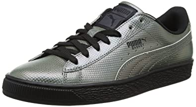 more photos 541ab 13588 Puma Unisex Adults' Basket Classic Holographic Low-Top Sneakers, Black (Puma  Black