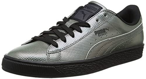a17d5298bc8e05 Puma Unisex Adults  Basket Classic Holographic Low-Top Sneakers ...