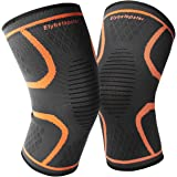 Knee Brace Support Compression Sleeve[Best]Etybetopstar 1 Pair Knee Protector for Meniscus Tear, Arthritis, ACL, Joint Pain Relief, Injury Recovery, Running, Basketball, Biking, Sports for Men & Women