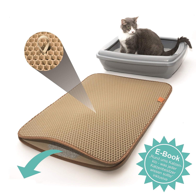 Pfotenolymp Premium Katzenklo Vorleger Große Katzenstreu Matte Als  Unterlage Für Katzentoilette   Katzenmatte In Beige: Amazon.de: Haustier