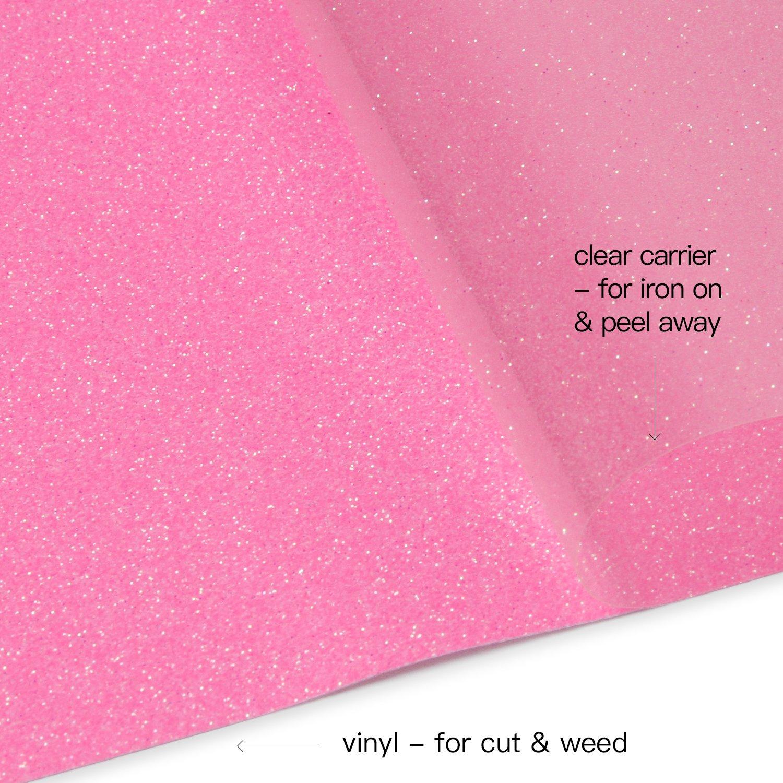 Glitter Flake Design Great for T-shirt RUSPEPA Glitter Heat Transfer Vinyl Garments Canvas Bags and Other Fabrics-19.5 X 12Inch-Copper