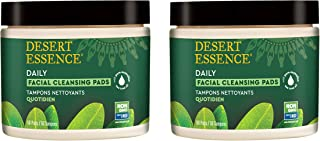 product image for Desert Essence Natural Tea Tree Oil Facial Cleansing Pads - 50 Count - Pack of 2 - Face Cleanser - Soothes & Calms Skin - Makeup Remover Pads - Removes Oil & Dirt - Great for Travel - Essential Oils
