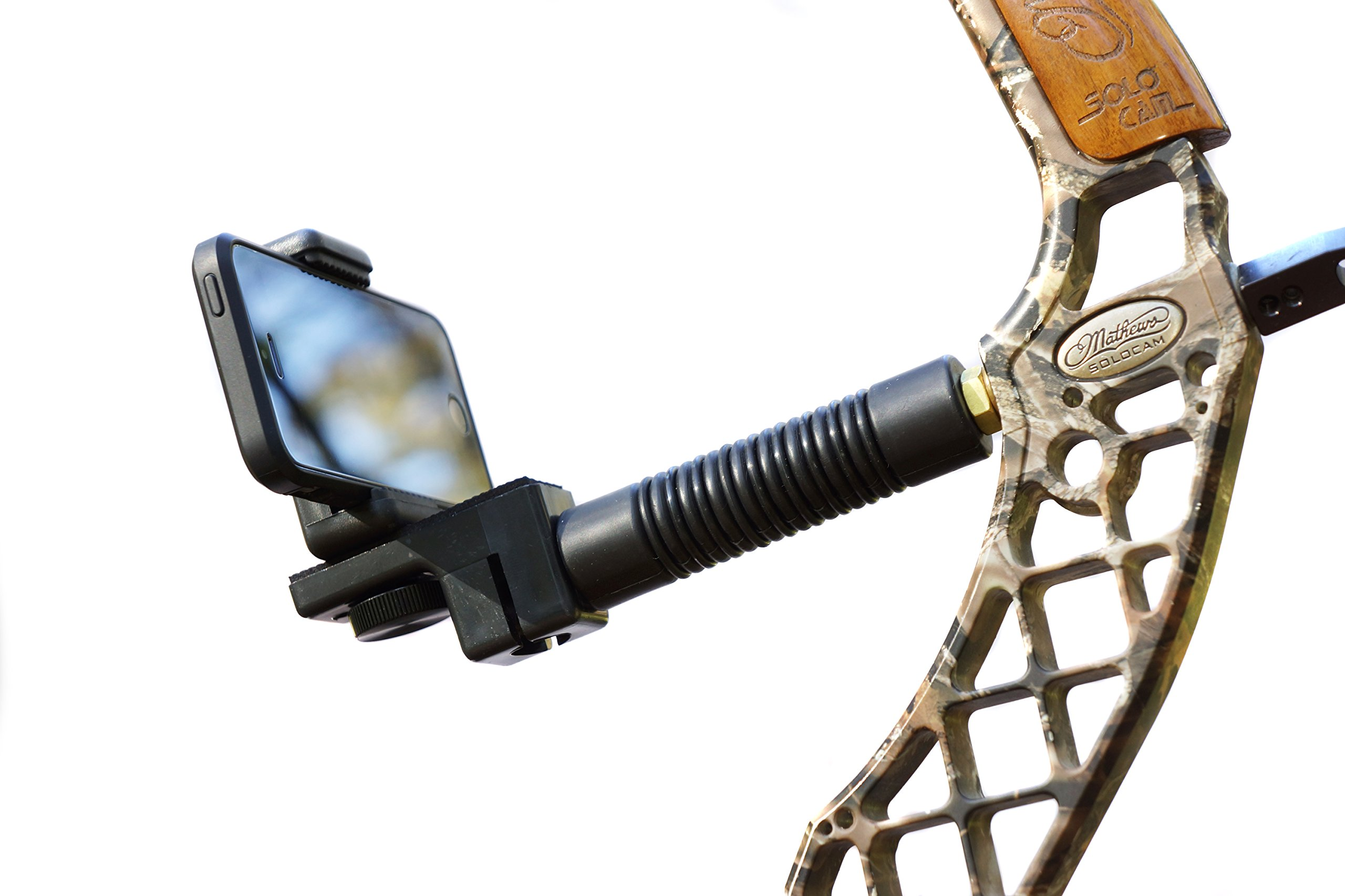 High Point Products Bow Camera Mount and Stabilizer; For Hunting, Archery; Attach Smartphone, iPhone, Nexus, Android, Samsung Htc, Lg, Motorola, GoPro, Standard Camera (Black) by High Point Products