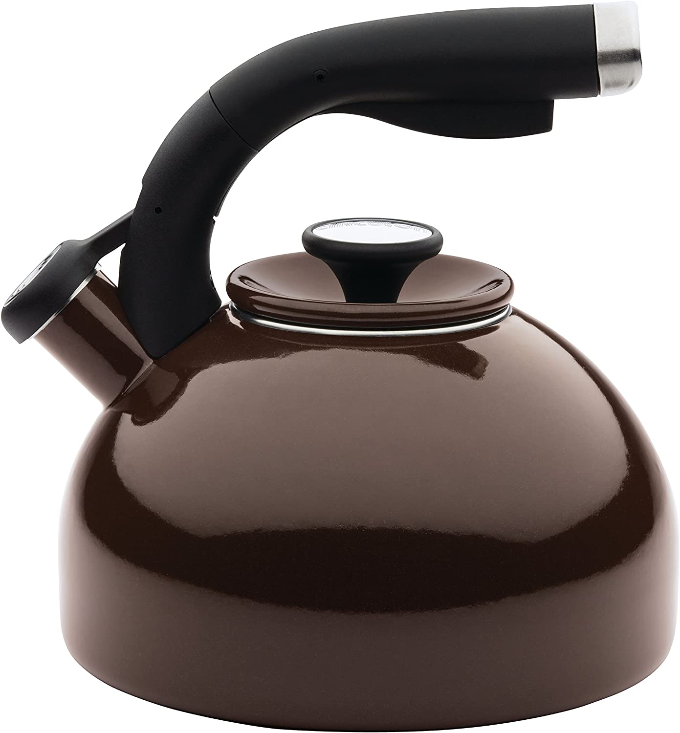 Circulon Morning Bird Whistling Kettle/Stovetop Teakettle/Tea Pot, 2 Quart, Chocolate