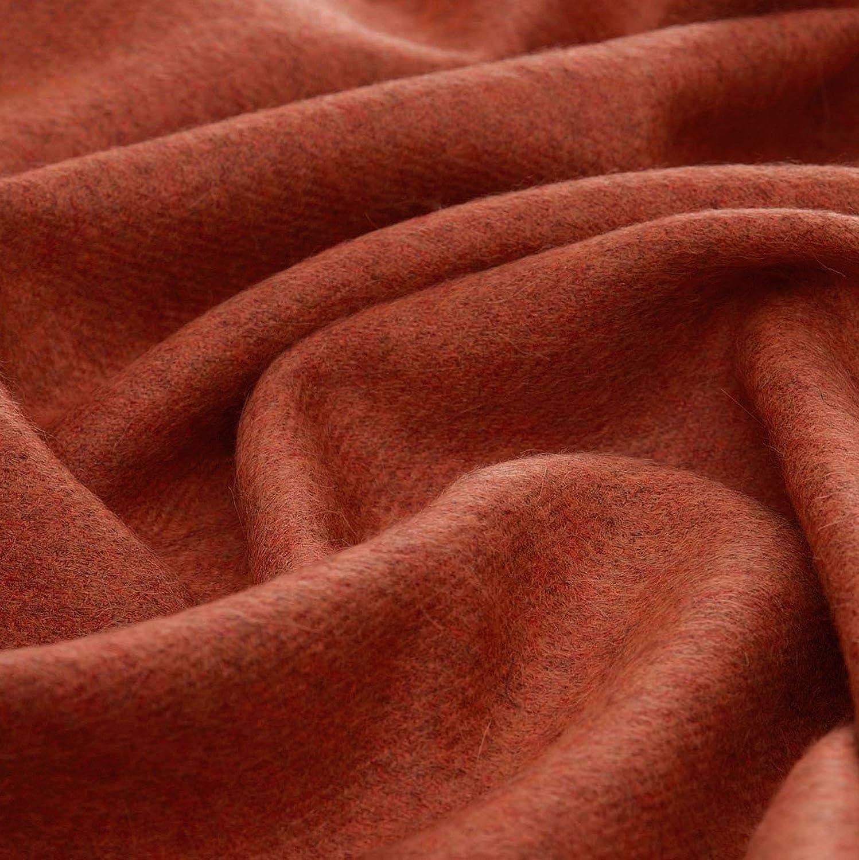 exquise et Douillette en Orange fonc/é b/éb/é alpaga Lorenzo Cana Couverture en Laine de 100/% Alpaca Couvre-lit jet/é de canap/é ou Plaid