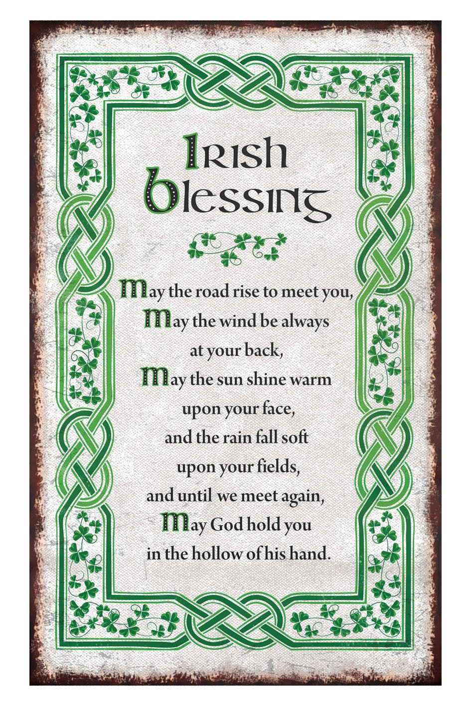 Amazon.com: Irish Blessing T-Towel With A Green Celtic Boarder And ...