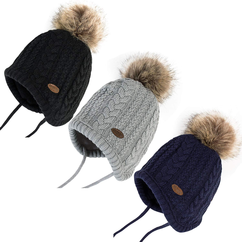 77e9527da4add Amazon.com  REDESS Baby Kids Winter Warm Fleece Lined Hats