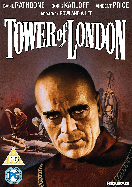 Tower of London Basil Rathbone vintage movie poster