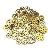 100g (70-80pcs) Mix Skeleton Steampunk Clock Watch Gear Cog Wheel Pendant Charms Jewelry Making DIY Steampunk Gear…