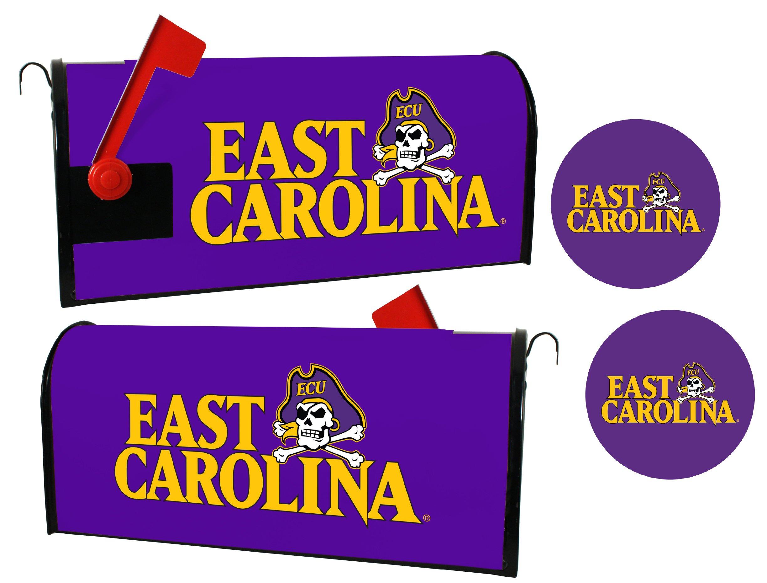 East Carolina Pirates Magnetic Mailbox Cover & Sticker Set