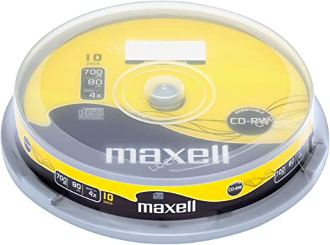 Maxell CD-RW 80XL 10 Pack 700 MB 10 Pieza(s) - CD-RW vírgenes (CD ...