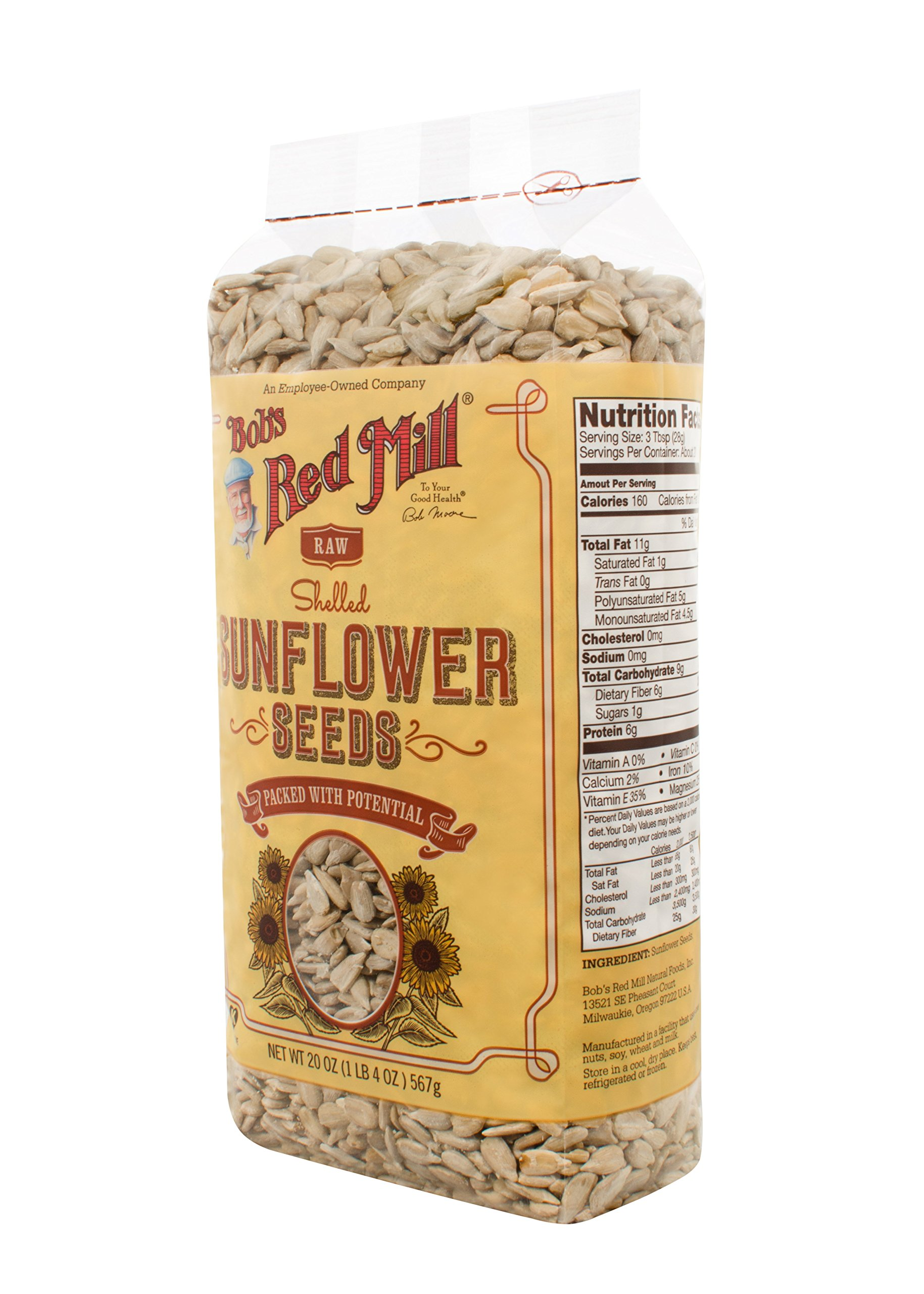 Bob's Red Mill Raw Shelled Sunflower Seeds (Kernels Only), 20-ounce (Package May Vary)