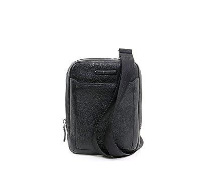 nuovo concetto 4509a 2f386 PIQUADRO TRACOLLA UOMO CA3084MO NERO: Amazon.it: Scarpe e borse