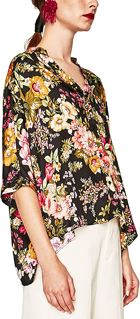 Zara - Camisas - para mujer 074 X-Small: Amazon.es: Ropa