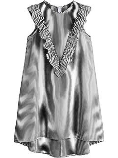 5e96e7dee57 Verochic Women s Cold Shoulder Casual Stripe Summer Beach Dress at ...