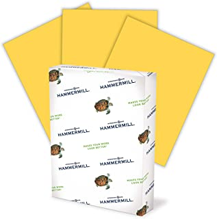 product image for Hammermill 103168 Recycled Colored Paper, 20lb, 8-1/2 x 11, Goldenrod, 500 Sheets/Ream
