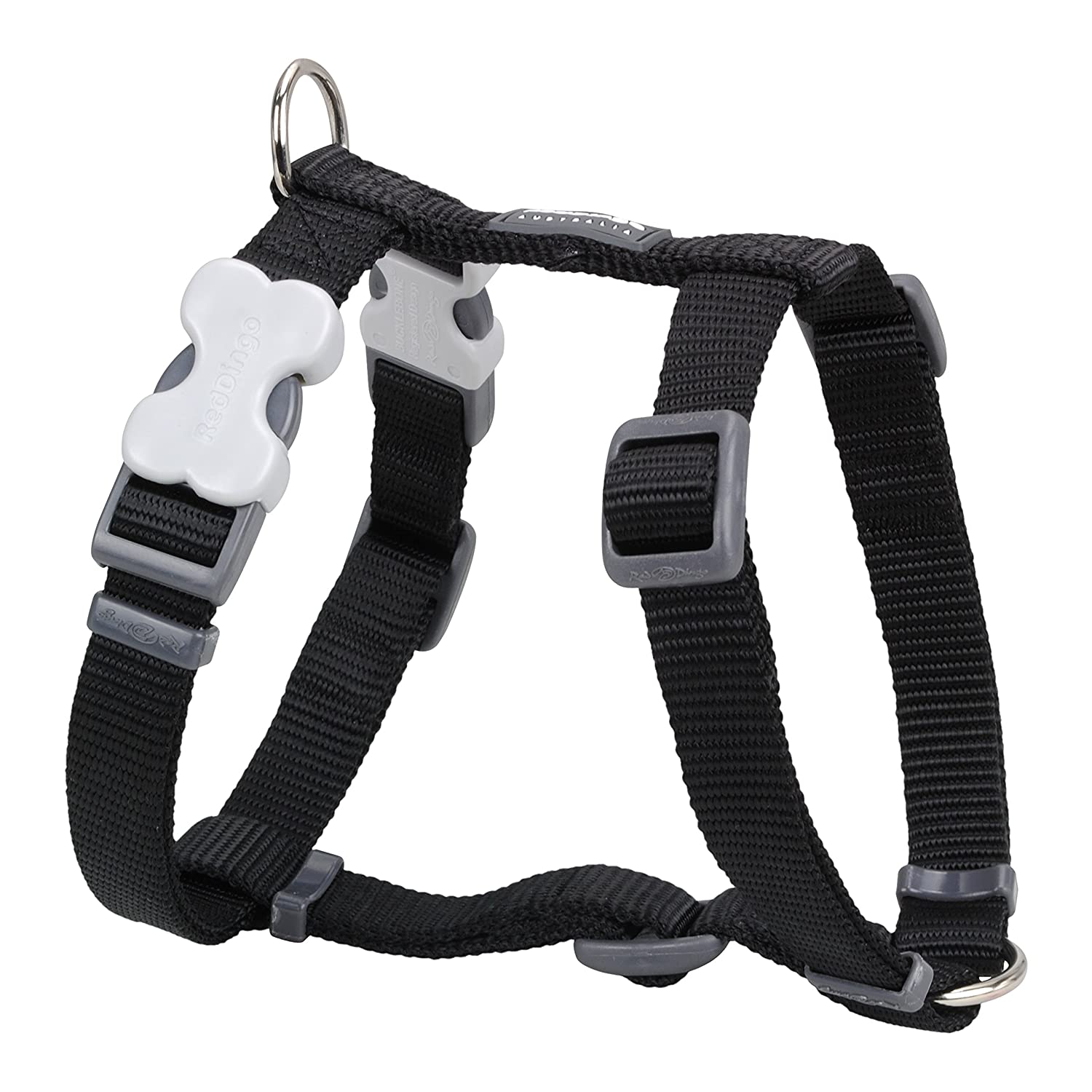 Red Dingo Classic Dog Harness, Large, Black