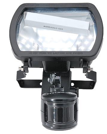 Foco Hyunday halógeno 500w regulable 180º sensor de 12m ahorro de energía automático para exterior impermeable IP44: Amazon.es: Electrónica