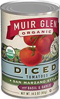 product image for Muir Glen Organic Diced Tomatoes San Marzano Style With Basil and Garlic 14.5 oz