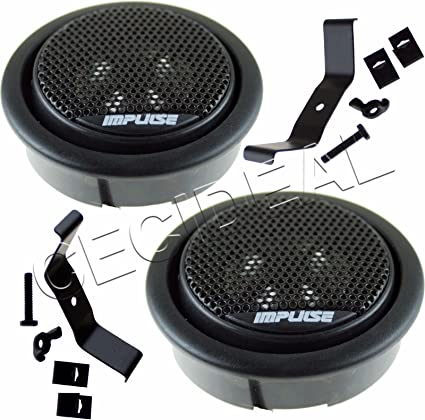 """NEW POWER ACOUSTIK NB-2 1/"""" 200W FLUSH-MOUNT CAR DOME TWEETERS BUILT IN CROSSOVE"""