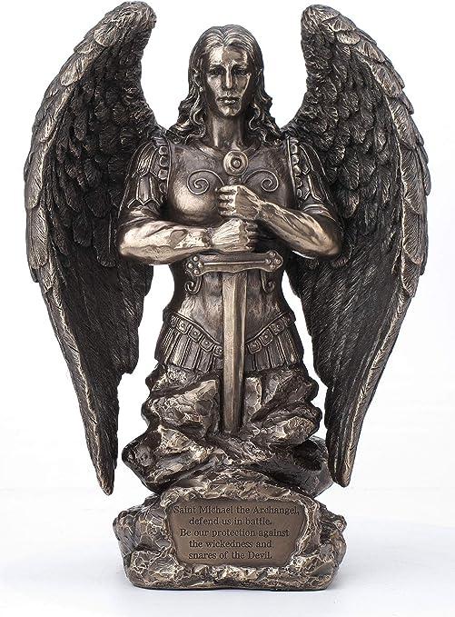 Sculpture Archange Michael Combats Contre Lucifer Figurine Veronese de Saint