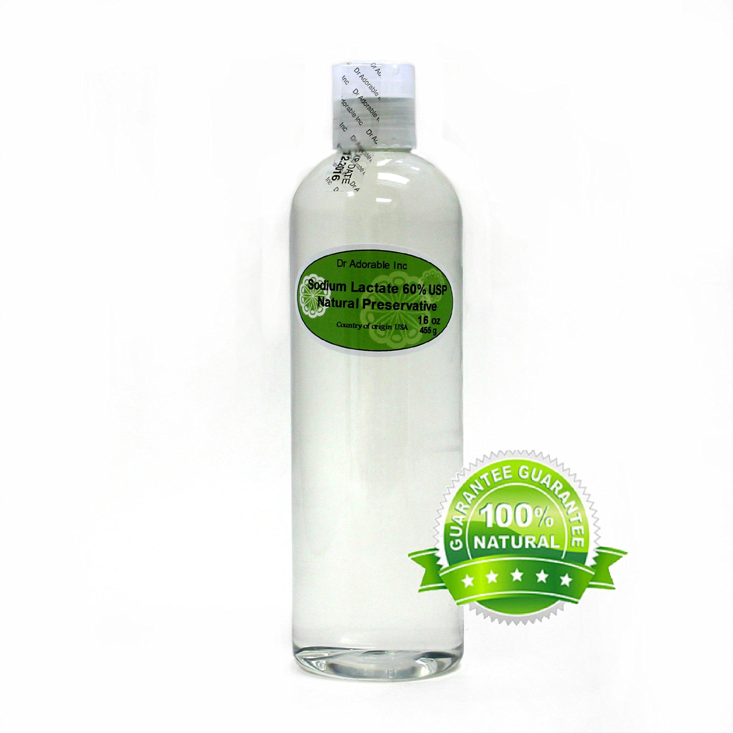 Sodium Lactate 60% USP Natural Preservative 16 oz