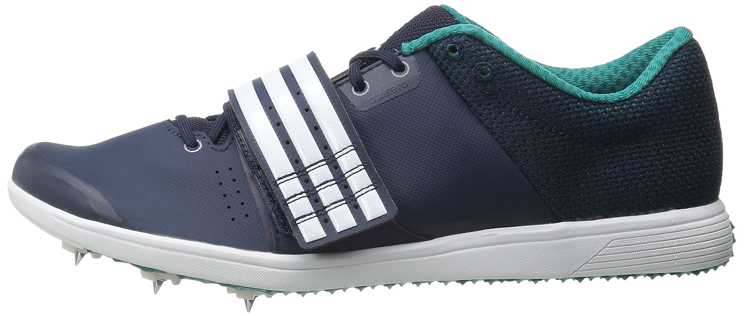 adidas Performance Women's Adizero TJ/PV Running Shoe with Spikes,Collegiate Navy/White/Green,14 M US by adidas (Image #5)