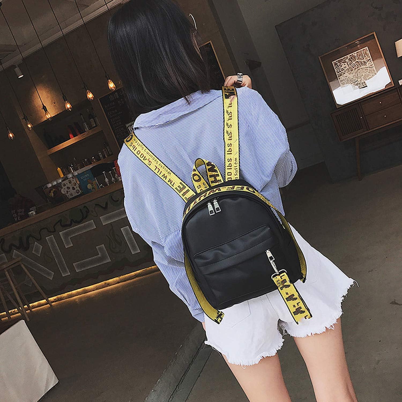 2018 New Preppy Letter Panelled Women Backpack Girl Schoolbag Ladies Small Travel Bag,Black