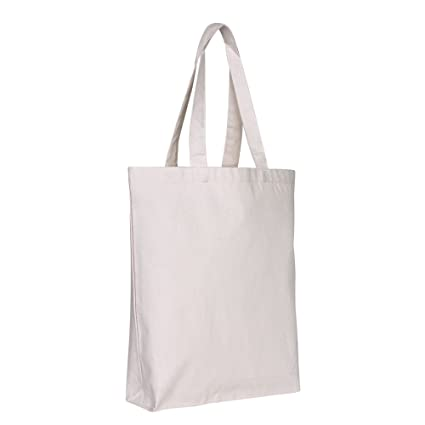 6f252b9020 Canvas Reusable Grocery Tote Bags - 15 x 15 x 3 - Bottom Gusset Sturdy Cotton  Canvas Bags for Women, Men, Boys, Kids, Adults, Heat Transfer Blanks, DIY,  ...