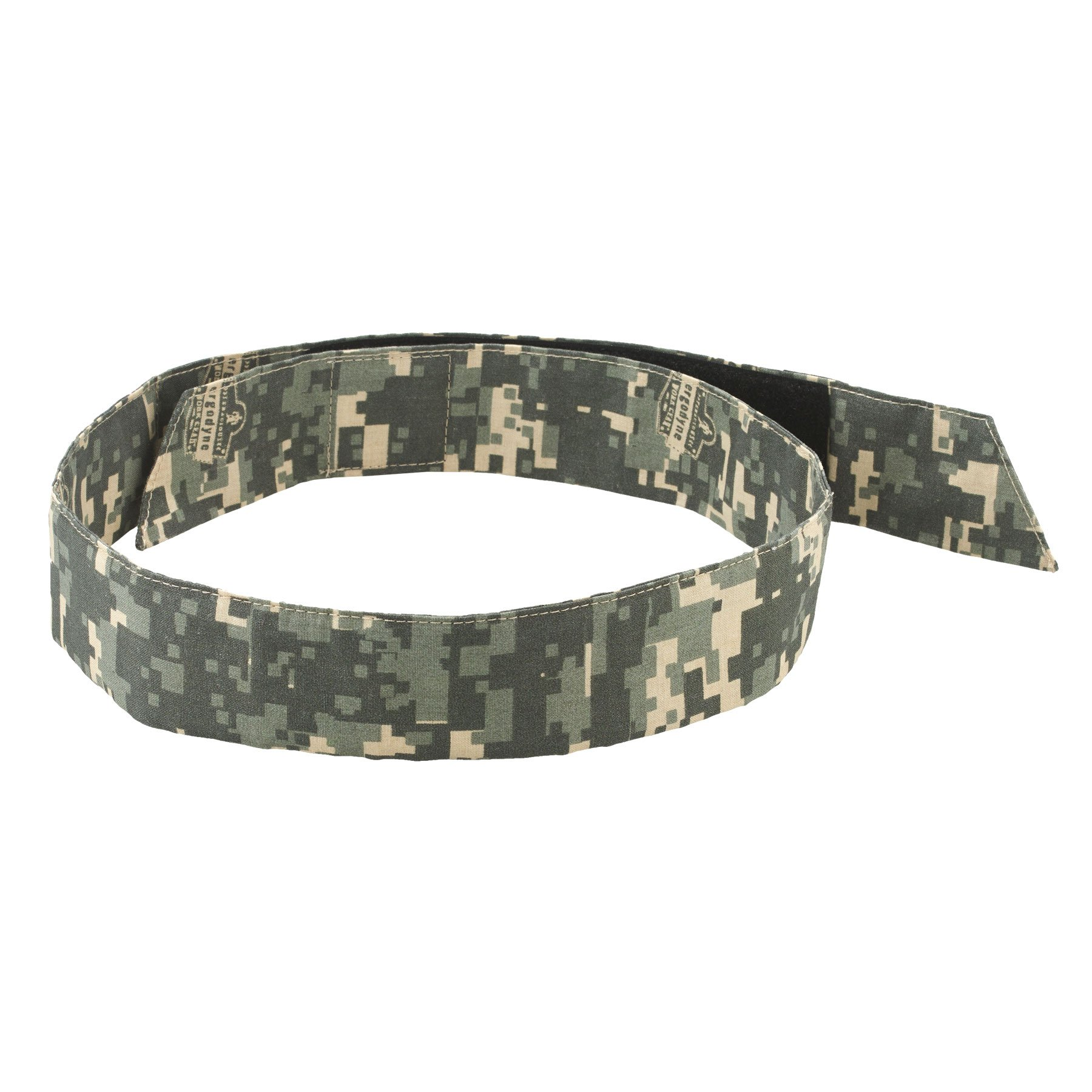 Ergodyne Chill-Its 6705 Evaporative Polymer Cooling Bandana - Hook & Loop Closure, Camo