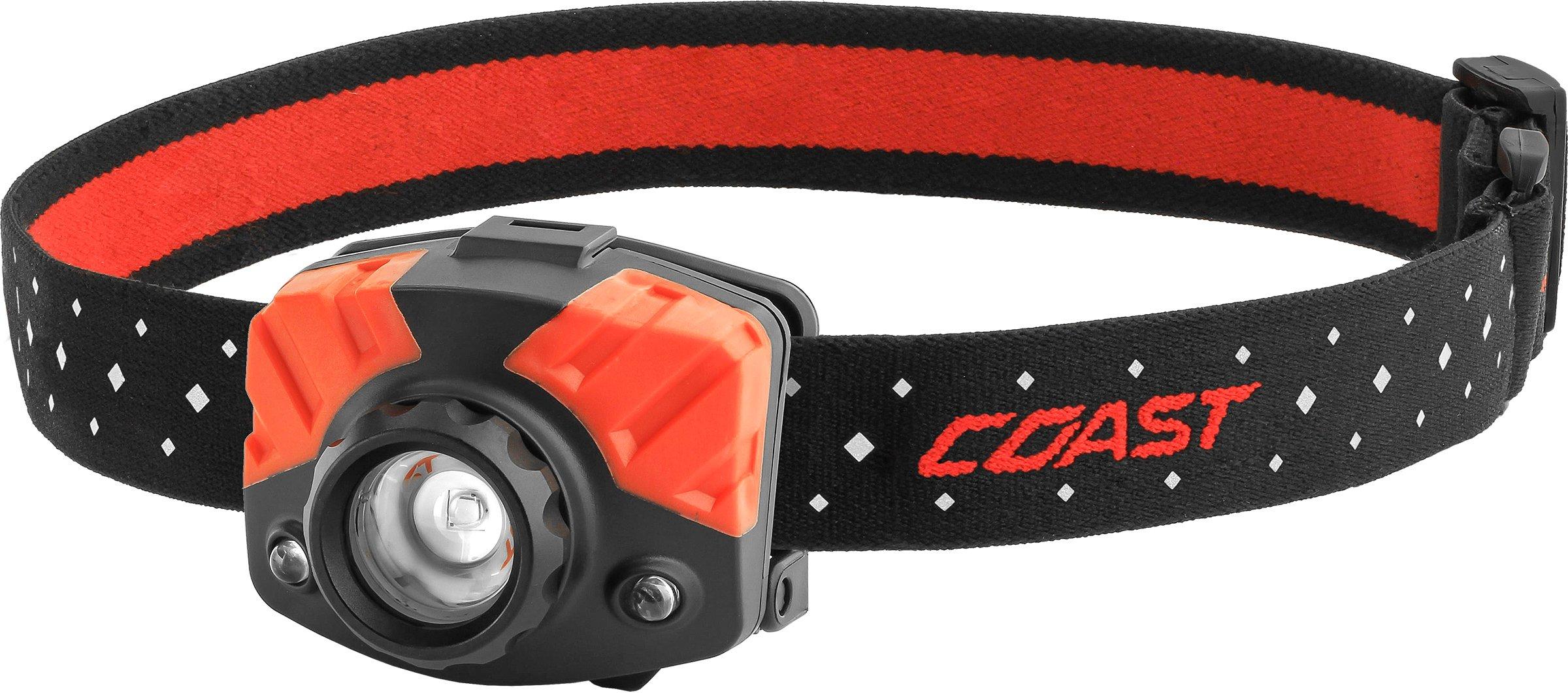 COAST FL75 435 Lumen Dual Color Focusing LED Headlamp, Black