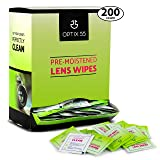 Lens Cleaning Wipes Eyeglass Cleaner, 200 Pre-Moistened Lens Wipes- Glasses Cleaner Cloth Wipe Safely Cleans Eye Glasses, Sunglasses, Screens, Electronics, Computer Monitor & Camera Lense| Streak-Free